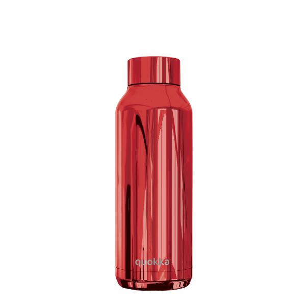 Nerezová lahev Solid Sleek 510 ml, Quokka, červená
