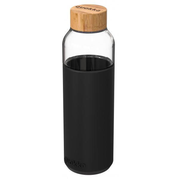 Skleněná lahev na vodu Flow 660 ml, Quokka, černá