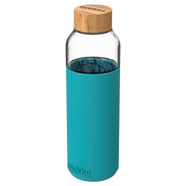 Skleněná lahev na vodu Flow 660 ml, Quokka, palm leaves