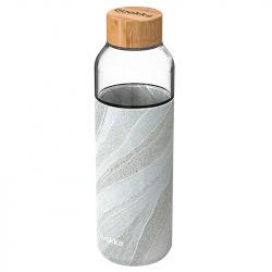Skleněná lahev na vodu Flow 660 ml, Quokka, white stone