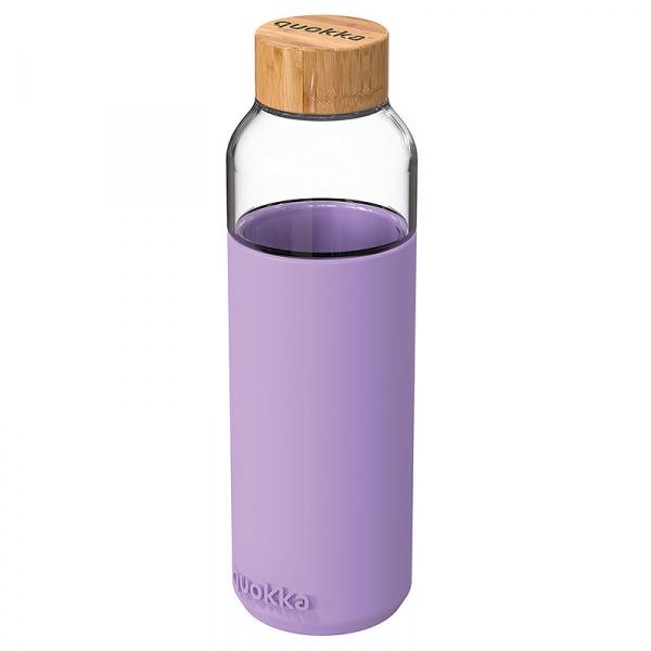 Skleněná lahev na vodu Flow 660 ml, Quokka, lilac