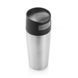 XD Design, Termohrnek do auta Auto leak, 300 ml, stříbrná