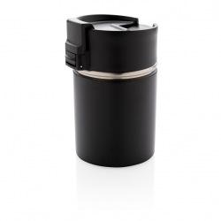 Keramický termohrnek Bogota, 220 ml, XD Design, černý