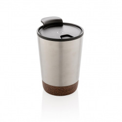 Termohrnek Cork, 300 ml, XD Design, stříbrný