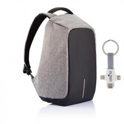 """Bezpečnostní batoh na notebook, Bobby Original, 15,6"""", XD Design, šedá"""