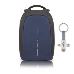 """Městský bezpečnostní batoh,  Bobby Compact, 14"""", XD Design, tmavě modrý"""