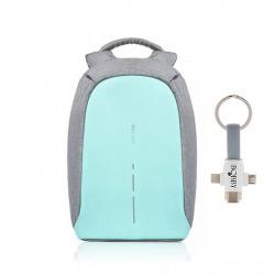 """Městský bezpečnostní batoh, Bobby Compact, 14"""", XD Design, mentolový"""