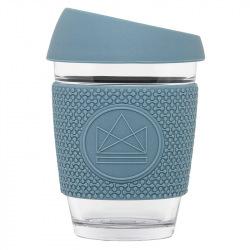 Skleněný hrnek na kávu, 340 ml, Neon Kactus, modrý