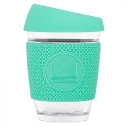 Skleněný hrnek na kávu, 340 ml, Neon Kactus, tyrkysový
