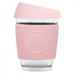 Skleněný hrnek na kávu, 340 ml, Neon Kactus, růžový