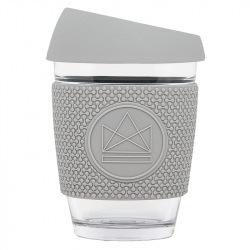 Skleněný hrnek na kávu, 340 ml, Neon Kactus, šedý