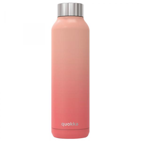 Nerezová láhev Solid, 630 ml, Quokka, broskvová