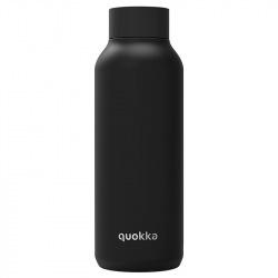 Nerezová láhev Solid, 510 ml, Quokka, černá