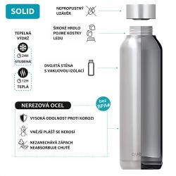 Nerezová láhev Solid, 630 ml, Quokka, tyrkysová