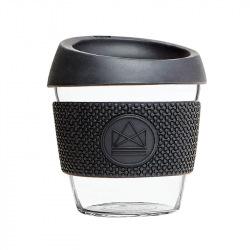 Skleněný hrnek na kávu, S, 230 ml, Neon Kactus, černý