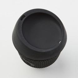 Skleněný hrnek na kávu, S, 240 ml, Neon Kactus, černý