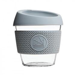 Skleněný hrnek na kávu, S, 230 ml, Neon Kactus, šedý