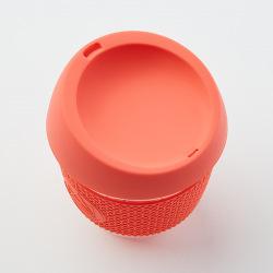 Skleněný hrnek na kávu, S, 240 ml, Neon Kactus, korálový