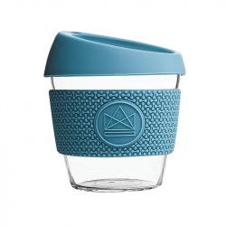 Skleněný hrnek na kávu, S, 240 ml, Neon Kactus, modrý