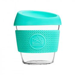 Skleněný hrnek na kávu, S, 230 ml, Neon Kactus, tyrkysový