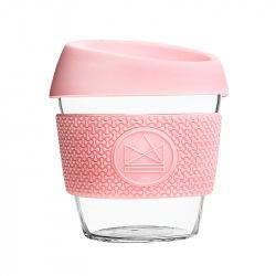 Skleněný hrnek na kávu, S, 240 ml, Neon Kactus, růžový