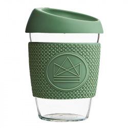Skleněný hrnek na kávu, M, 340 ml, Neon Kactus, zelený