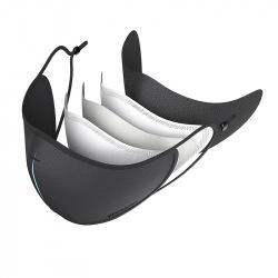 Ochranná rouška s filtry z nanovlákna, XD Design, černá