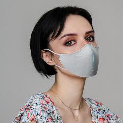 Ochranná rouška s filtry z nanovlákna, XD Design, šedá