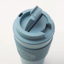 Cestovní hrnek s dvojitou stěnou, 450 ml, Neon Kactus, modrý