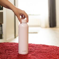 Nerezová láhev Solid Powder, 510 ml, Quokka, světle růžová