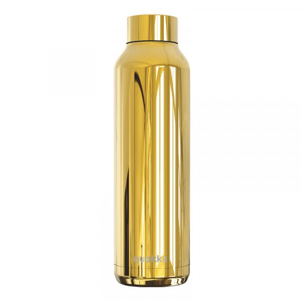 Nerezová lahev Solid Sleek 630 ml, Quokka, zlatá