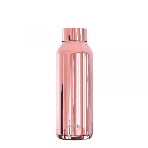 Nerezová lahev Solid Sleek 510 ml, Quokka, růžová