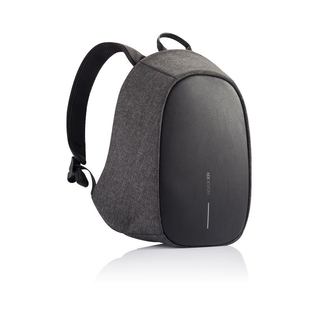 Levně Dámský bezpečnostní batoh s alarmem a SOS sms lokací Elle Protective, XD Design, 8L, černý/šedý