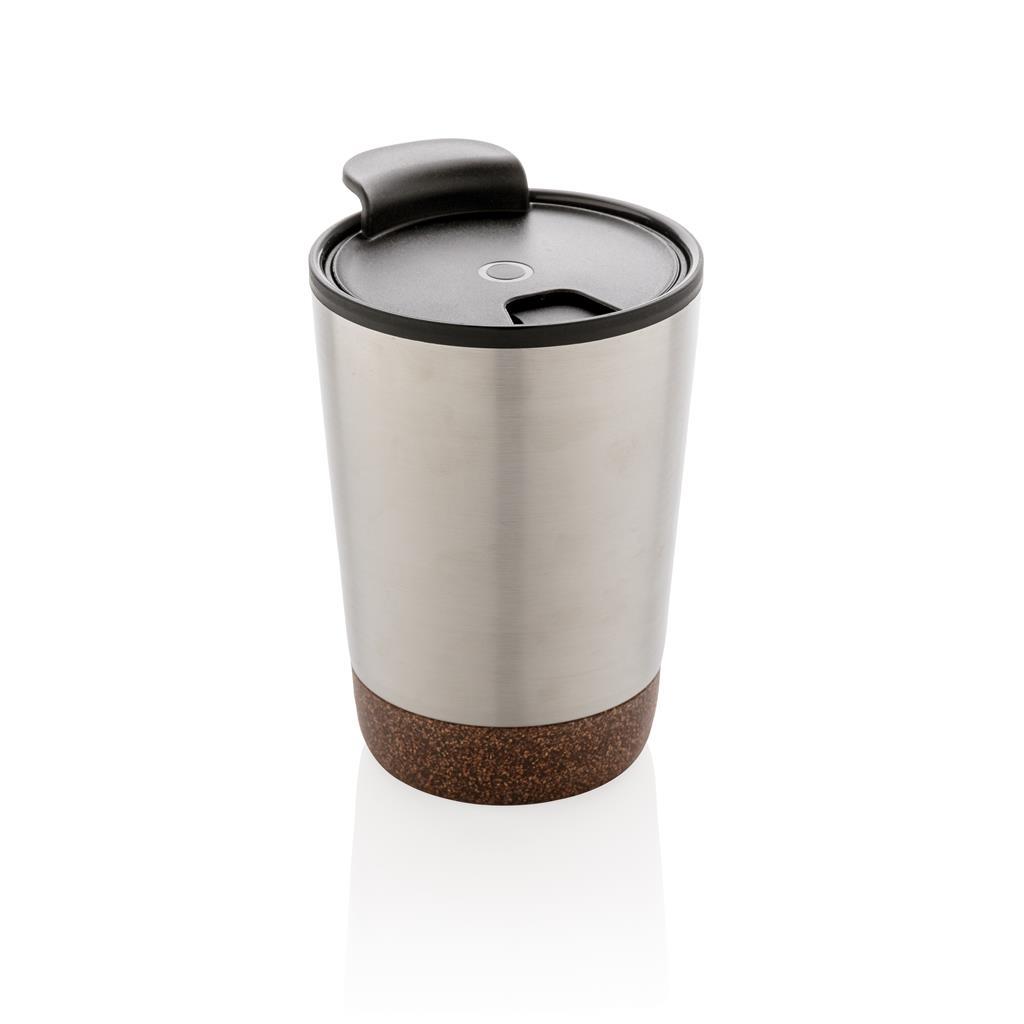 Levně Termohrnek Cork, 300 ml, XD Design, stříbrný