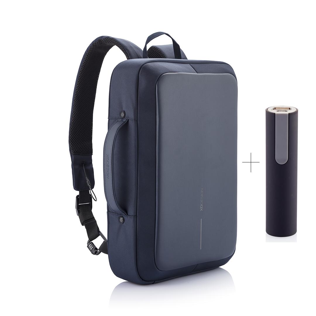XD Design, Bobby Bizz, batoh a taška na notebook v jednom, který nelze vykrást, 15.6'', P705.575, navy