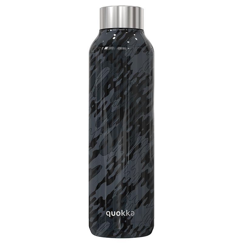 Levně Quokka, Nerezová láhev Solid, 630 ml, camo, Q11806
