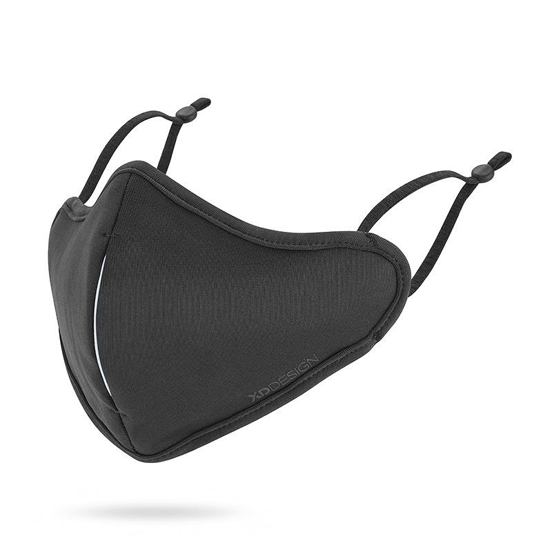 Levně XD Design, Ochranná nanorouška s filtrem, černá, P265.871