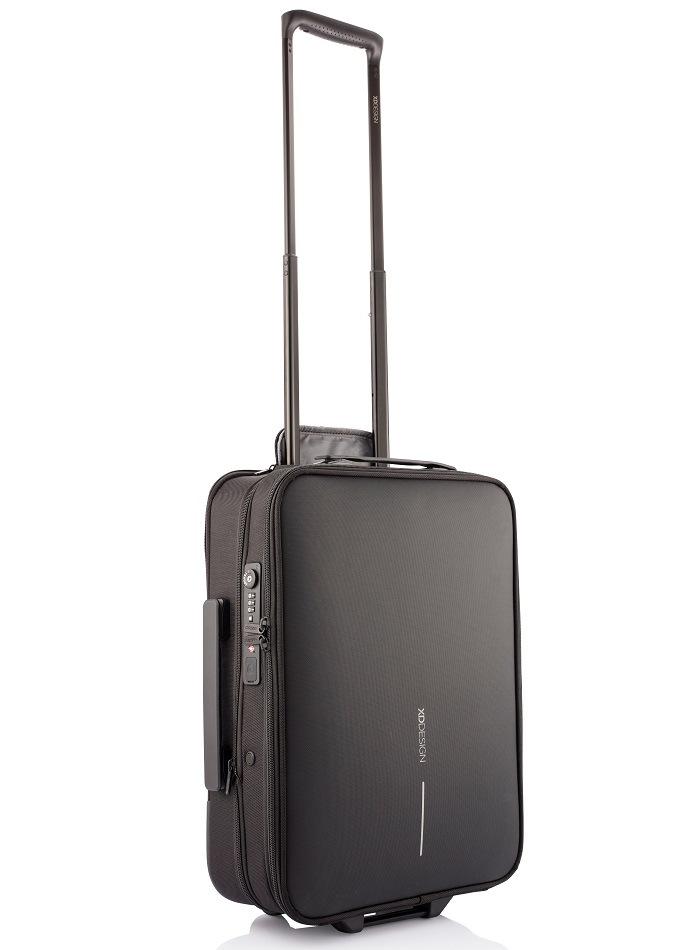 XD Design, Příruční kufr na kolečkách Flex Trolley, 15-30 L, černý